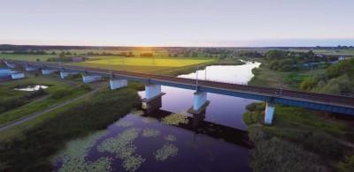 Most kolejowy nad Zalewem Wrzesińskim – R2FLY.PL 4K